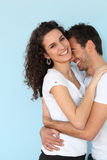 Cheerful couple hugging Royalty Free Stock Photo