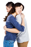Cheerful couple hugging Royalty Free Stock Photos
