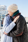 Cheerful couple hugging each other Stock Photos