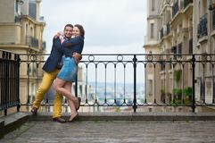 Cheerful couple on Montmartre Stock Image