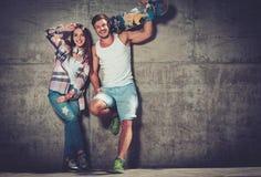 Cheerful couple outdoors Stock Photos