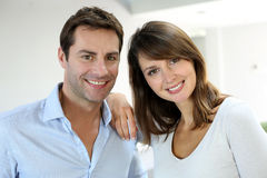Cheerful couple portrait Stock Image