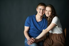 Cheerful couple Royalty Free Stock Photo