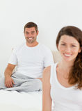 Cheerful couple relaxing together Royalty Free Stock Image