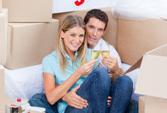 Cheerful couple toasting with Champagne Royalty Free Stock Photo