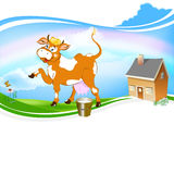 A  cheerful cow Royalty Free Stock Images