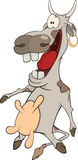 Cheerful cow cartoon Stock Photography