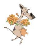 Cheerful cow. Cartoon Stock Image