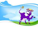 A  cheerful cow Royalty Free Stock Photos