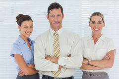 Cheerful coworkers posing together Royalty Free Stock Images