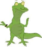 Cheerful crocodile vector illustration