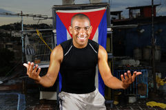 Cheerful cuban man Stock Photos