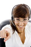 Cheerful customer care executive Stock Photos