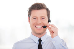 Cheerful customer service representative. Stock Image