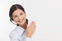 Cheerful customer service representative. Stock Image