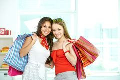 Cheerful customers Stock Image