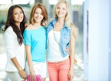 Cheerful customers Royalty Free Stock Photography
