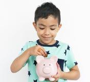 Cheerful Cute Kid Having Fun Concept Stock Photos