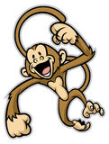 Cheerful cute monkey Stock Photos