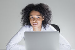 Cheerful cute office employee Stock Photography