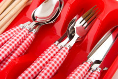 Cheerful cutlery Royalty Free Stock Photos