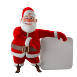 Cheerful 3d model of Santa claus, happy christmas icon, Royalty Free Stock Photos