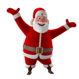Cheerful 3d model of Santa claus, happy christmas icon,. Funny cartoon Christmas Grandpa, decorations for Christmas greetings card, web, advert. kind model Royalty Free Stock Images