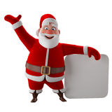 Cheerful 3d model of Santa claus, happy christmas icon, Royalty Free Stock Photo