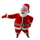Cheerful 3d model of Santa claus, happy christmas icon, Stock Photography