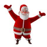Cheerful 3d model of Santa claus, happy christmas icon, Stock Photos