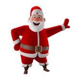 Cheerful 3d model of Santa claus, happy christmas icon, Stock Photo