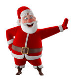 Cheerful 3d model of Santa claus, happy christmas icon, Stock Image