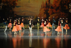 The cheerful dance-ballet Swan Lake Stock Images