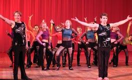 Cheerful dance flashmob Royalty Free Stock Photo