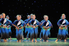 A cheerful dancing girls Royalty Free Stock Images