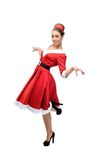 Cheerful dancing retro girl Royalty Free Stock Photo