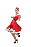 Cheerful dancing retro girl Royalty Free Stock Photos