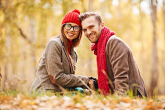 Cheerful dates Royalty Free Stock Images