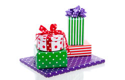 Cheerful decorated gifts Stock Images