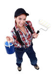Cheerful decorator Stock Photography