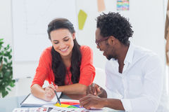 Cheerful designers working together Stock Photography