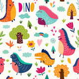 Cheerful dinosaurs Royalty Free Stock Images