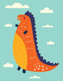 Cheerful dinosaurs Stock Photography