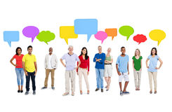 Cheerful Discussion Diversity Community Communication Concept Royalty Free Stock Photos