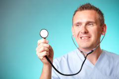 Cheerful doctor Stock Image
