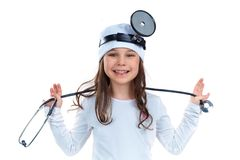 Cheerful doctor royalty free stock photography