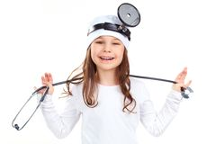 Cheerful doctor stock images