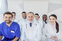 Cheerful doctors enjoying their work Stock Images