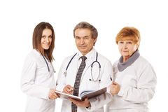 Cheerful doctors posing together Royalty Free Stock Images