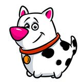 Cheerful dog cartoon illustration Royalty Free Stock Image